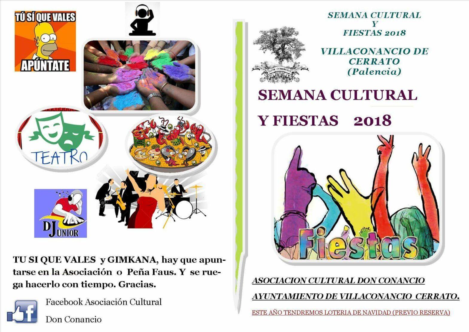 Programa Semana Cultural y Fiestas 2018