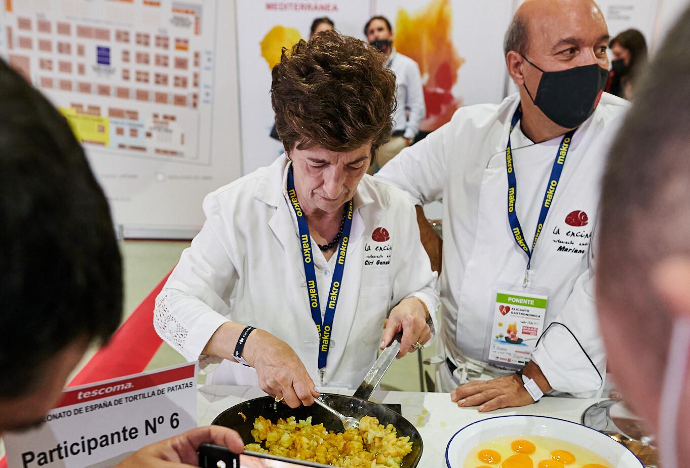 Ciri González gana por cuarta vez el Campeonato de España, con su tortilla de patatas